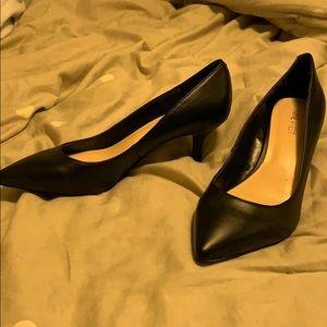 Nine West Black Kitten Heels
